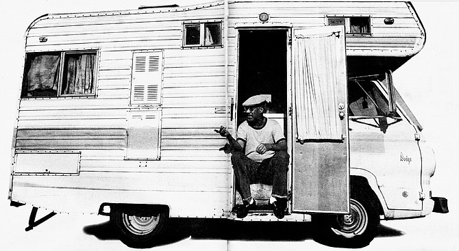 "Ron Orr and Amazing Grace: ""You can't park in a residential area; people resent it. They're intimidated by your motor home being in front of their homes."" - Image by Randy Hoffman"