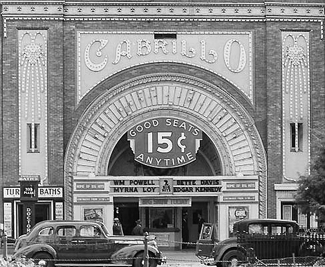 Cabrillo theater, 1938. We had a print of Alien on its first week of release that packed the Cabrillo for 14 days straight.