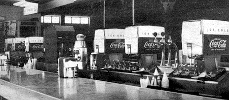 """Soda bar at the rink. Over the years, Wright has lectured many a young skater in his office. Being sent to the office, says Wright, """"that was considered almost as bad as going to court."""""""