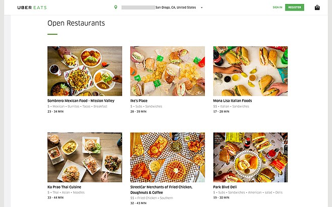 A decent selection of restaurants for UberEATS, with more on the way