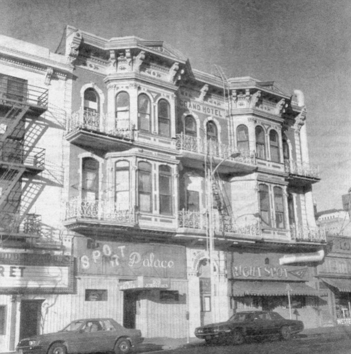 Horton Grand Hotel, c. 1980. The developers from San Francisco had been converting small, old hostelries into luxurious bed-and-breakfast inns and saw a similar potential in the Horton Grand.