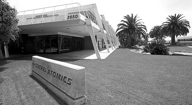 General Atomics HQ, just east of La Jolla at 3550 General Atomics Court