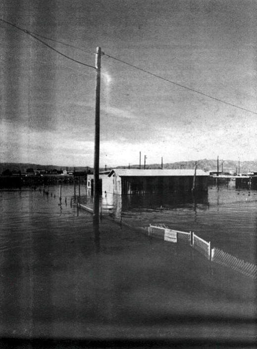 The homes along Fourth and Fifth streets were periodically flooded during heavy rains.