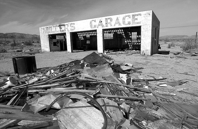 """Miller's Garage. """"The underground gasoline tanks were filled with sand in the '60s, which was legal for the time period."""" - Image by Joe Klein"""