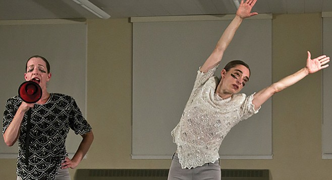 Monica Bill Barnes (right) and Anna Bass would have you do the wave; and see modern dance as fun and accessible, rather than strange and off-putting.