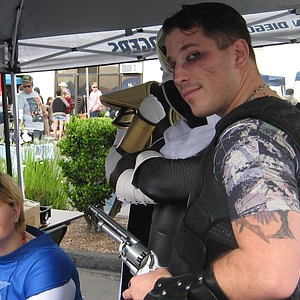Captain America and Cos-Losseum founder Dan Posey as Punisher