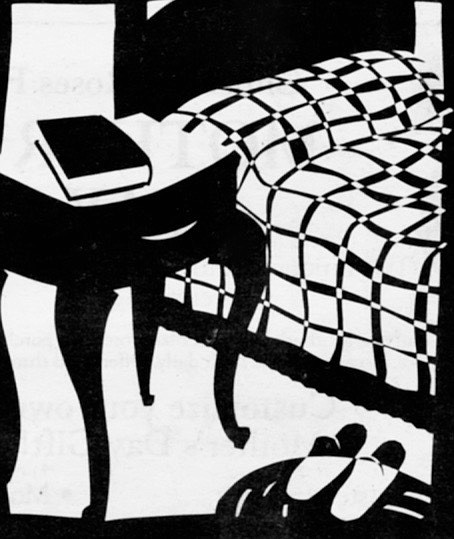 A book on a nightstand