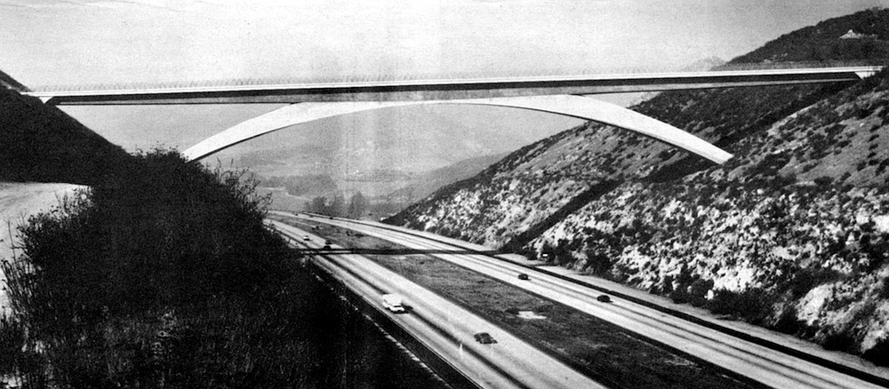 """Lilac Road Bridge.  """"We rejected tall columns right away. The arch was the only solution."""""""
