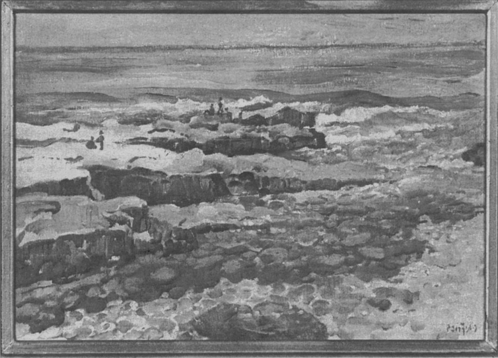 """Rocks at La Jolla, 1930. """"We could've bought lots in the center of La Jolla for $25."""""""