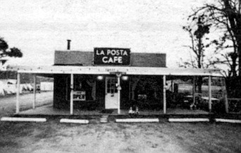 La Posta is the exact opposite of a bedroom community — a workplace community, where people from elsewhere come to earn money providing roadside services to other passers-through.
