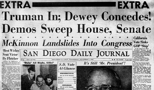 "McKinnon's own newspaper announces his 1948 congressional victory. ""Mac was lucky in getting into Congress;  he ran against a real boob. Charlie Fletcher was always saying the dumbest things."""