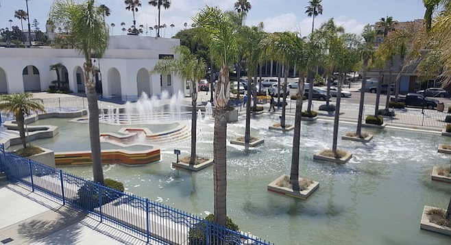 Though the fountains look good, they won't be on long.