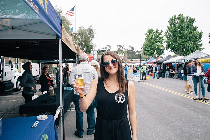 SD Brewers Guild president Jill Davidson at the guild's annual Rhythm'n'Brews beer festival.