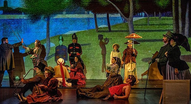 Stephen Sondheim and James Lapine wondered, what if Seurat's figures could speak?