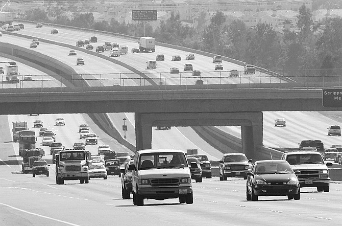 """Nothing beats the I-15 corridor. """"This traffic today reminds me of LA. 20 years ago.""""  - Image by Joe Klein"""