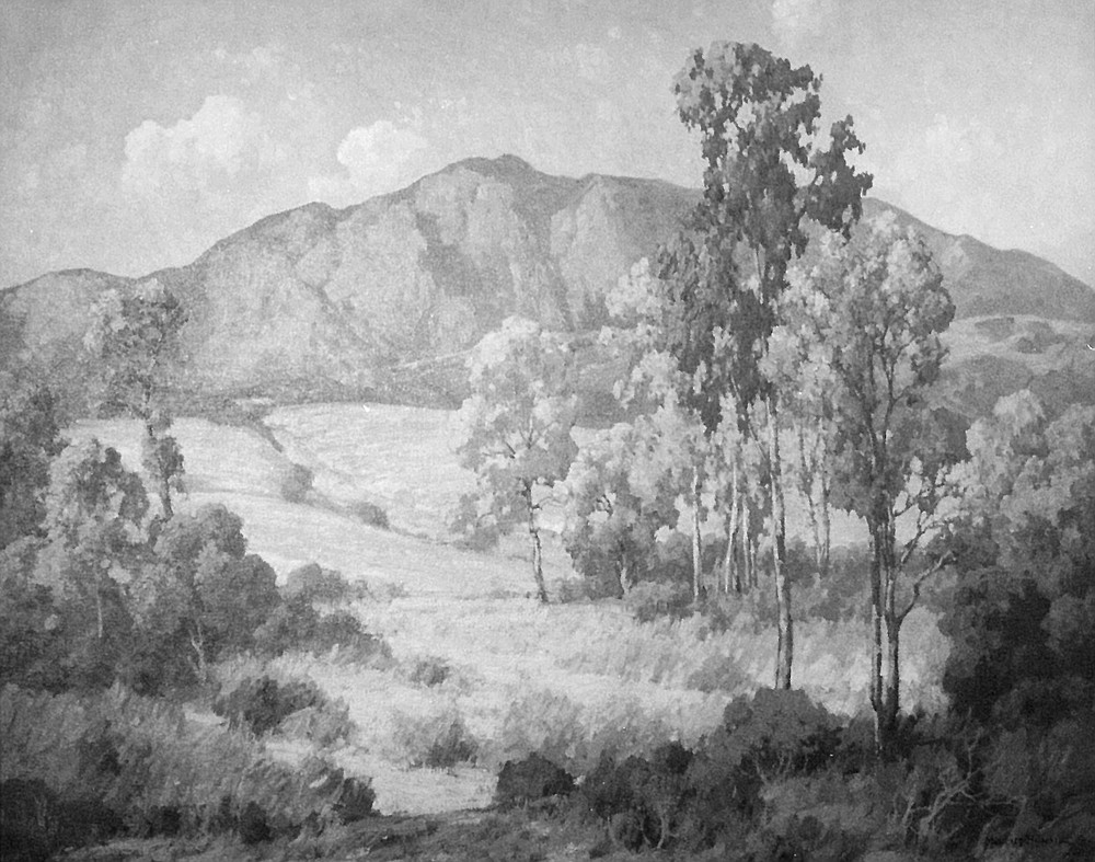 Maurice Braun landscape. Braun was drawn to San Diego by the Theosophical Society here, took a studio on Point Loma, and never left.
