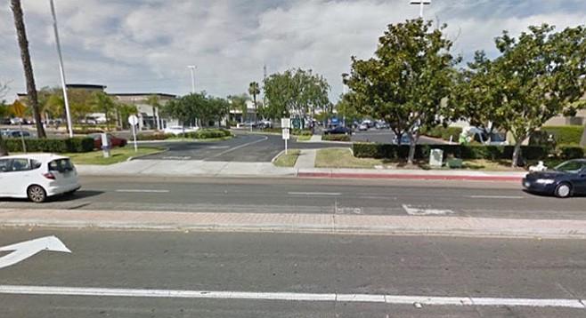 Shawline Street, site of collision