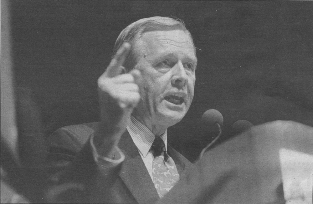 Pete Wilson campaigns for president in San Diego, November 1995
