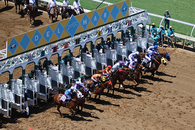 Del Mar track announcer's Trevor Denman's well-known opening line