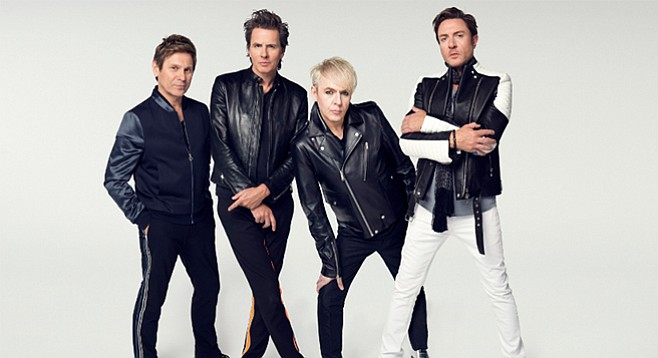 "Duran Duran drummer Roger Taylor (far left): ""We've always been a dance band, and to me [Paper Gods] is a real dance record."""