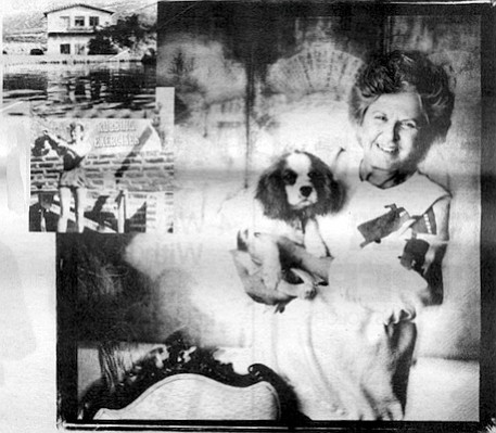 GOLDEN GIRL: Deborah Szekel, the godmother of American spas, at home in Washington, D.C.; Rancho la Puerta's old lecture hall (inset top) and a rubbing class there in 1950