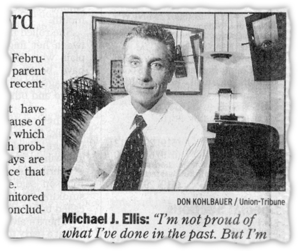 From San Diego Union-Tribune, September 4, 1999. Michael Ellis looks back.