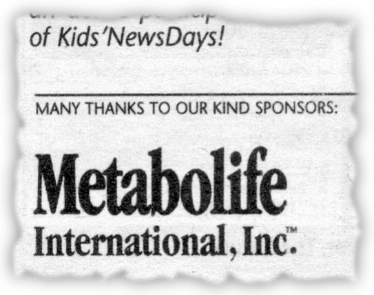 Sponsor of San Diego Union-Tribune Kids' NewsDays
