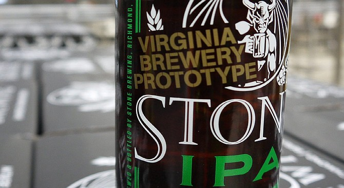 Stone IPA was the first beer produced at the company's new Richmond production brewery.