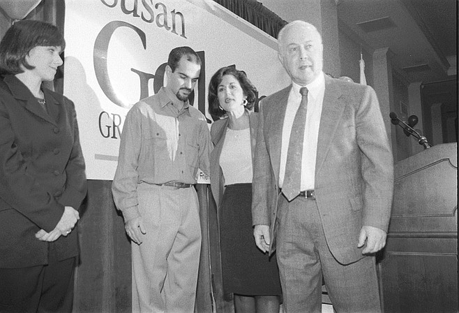 Susan Golding and Brage Golding (right). Golding, daughter of Brage Golding, a former president of San Diego State University, was a young divorcée with two small children and precious little work experience but a burning desire for influence and money.