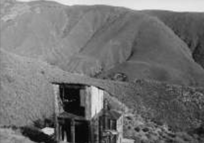 Warlock Mine, c. 1975. First worked in 1870, suspended operations in 1957.