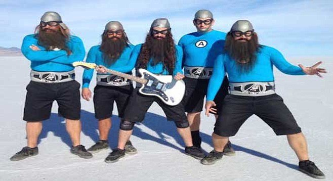 Toon-pop superheroes the Aquabats land at House of Blues on Saturday.
