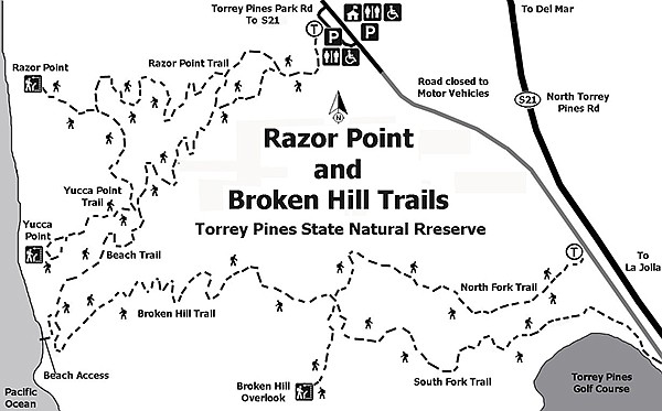 Razor Point and Broken Hill trail map