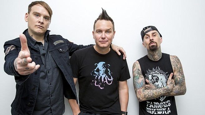 Poway pop-punk trio Blink-182 plays two at Viejas, Thursday and Friday nights.