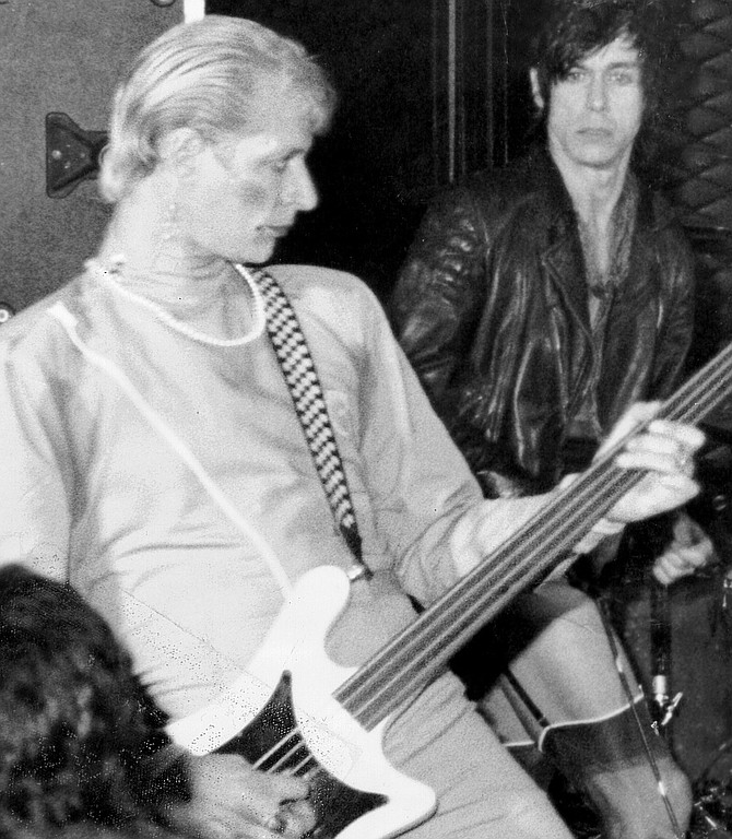 Michael Page and Iggy Pop. I took Glen Matlock's place in Iggy's band.