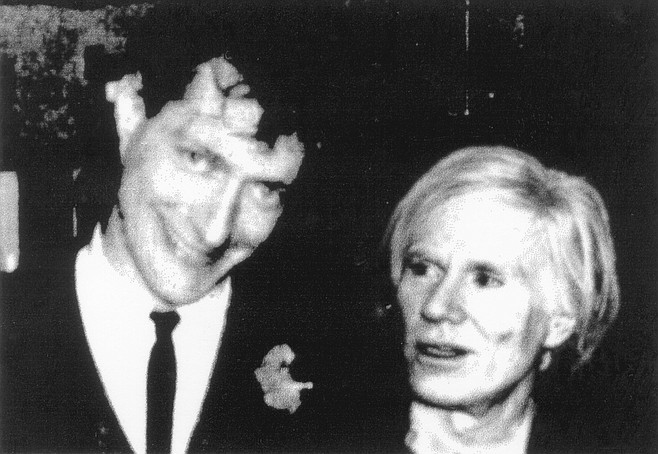 """Michael Page and Andy Warhol at CBGB. """"We look like we've been friends for 20 years."""""""