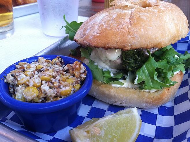 Grilled yellowtail sandwich