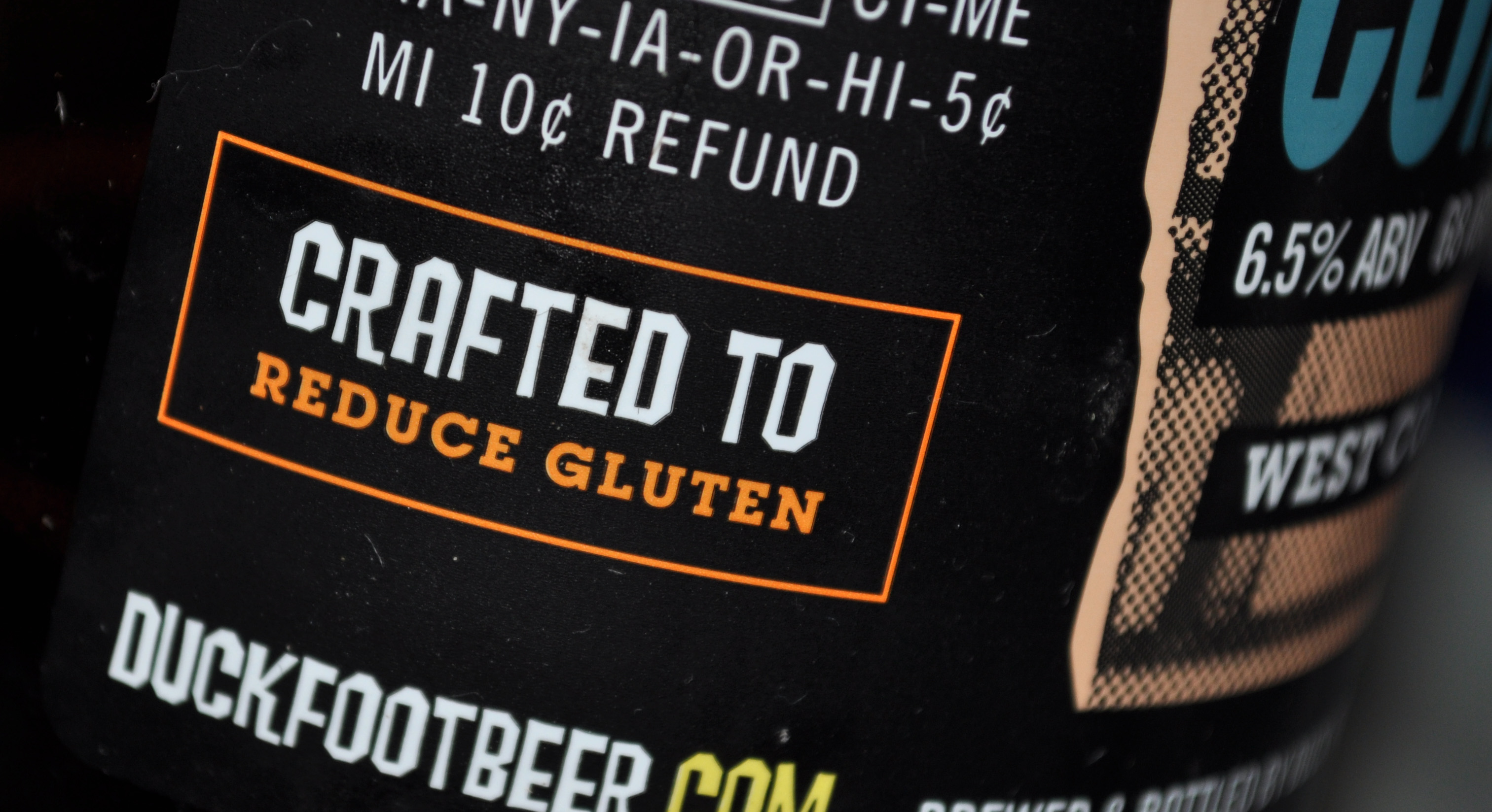 Beer brewed from glutinous grains can't call themselves gluten-free; only gluten reduced.