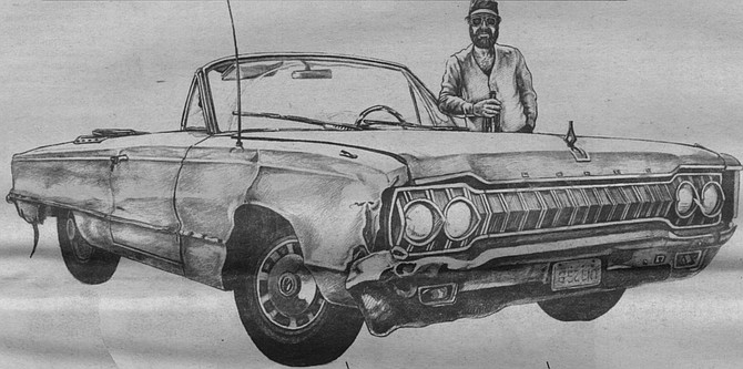 Harry Walker Byrd with his 1965 Dodge convertible - Image by David Coulson