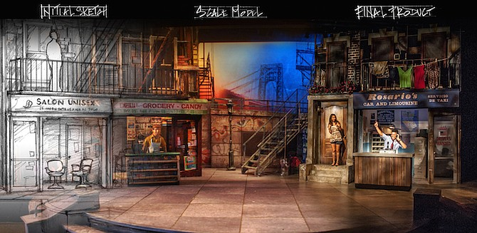 Amalgam of Sean Fanning's process for In the Heights set design (San Diego Repertory, 2013)