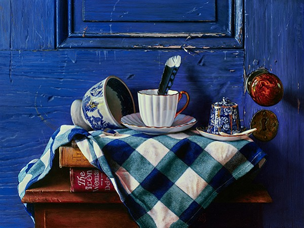 The painting Heather Neill ended up making of those teacups, called Oversouth Willow.