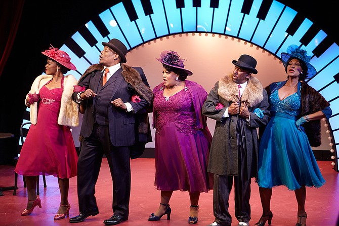 Yvonne, Tony Perry, Cynthia Thomas, Ron Christopher Jones, and Anise Ritchie in Ain't Misbehavin'