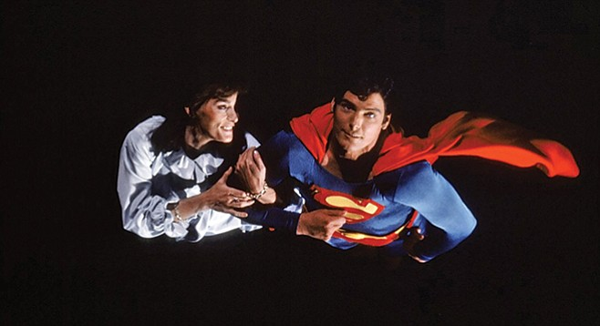 Bright night: Margot Kidder and Christopher Reeve in Richard Lester's Superman II.