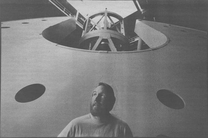 Russ Day's job entails everything from painting the 12 residential cottages to operating the 50-ton utility crane located in the top of the Hale's dome.