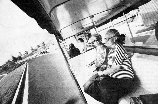 Lawrence Welk shuttle bus