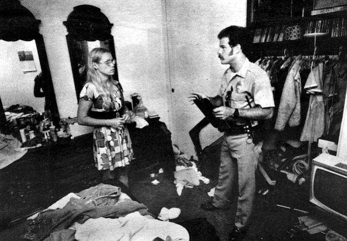 Officer Rosenbloom and burglary victim