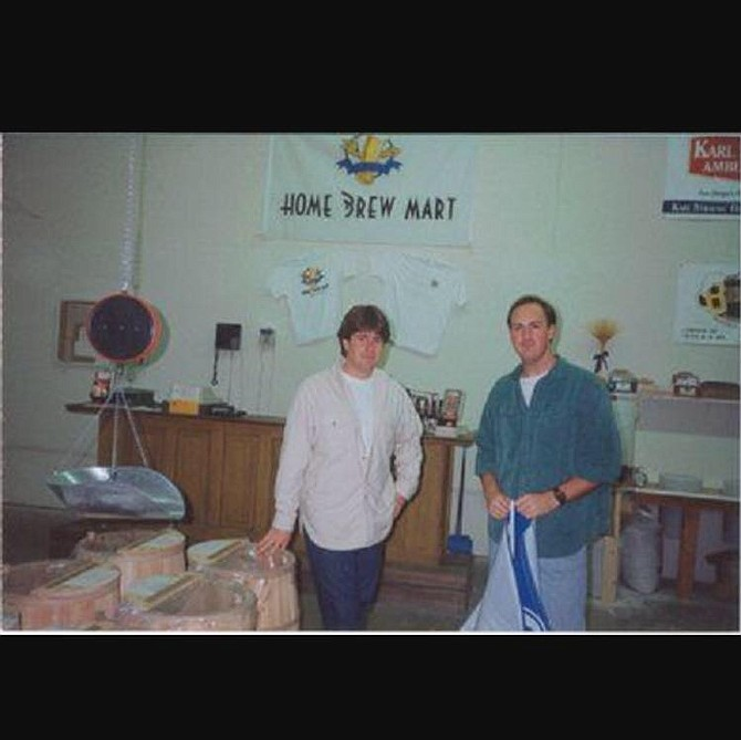 Yuseff Cherney and Jack White at the Home Brew Mart in 1992
