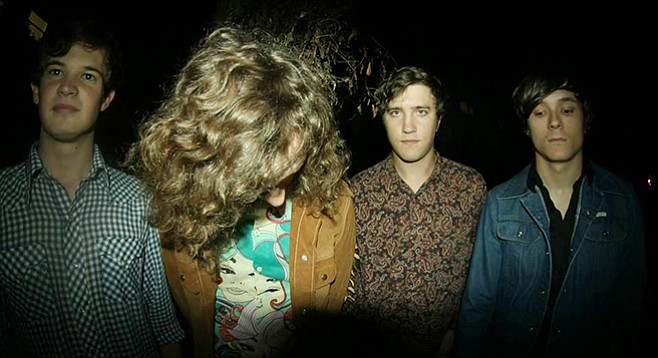Flower power fuzz poppers Frankie & the Witch Fingers headline sets at Soda Bar Thursday night!