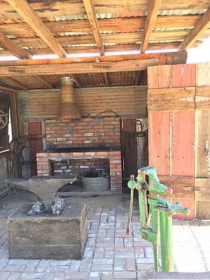 Inside the blacksmith's shop