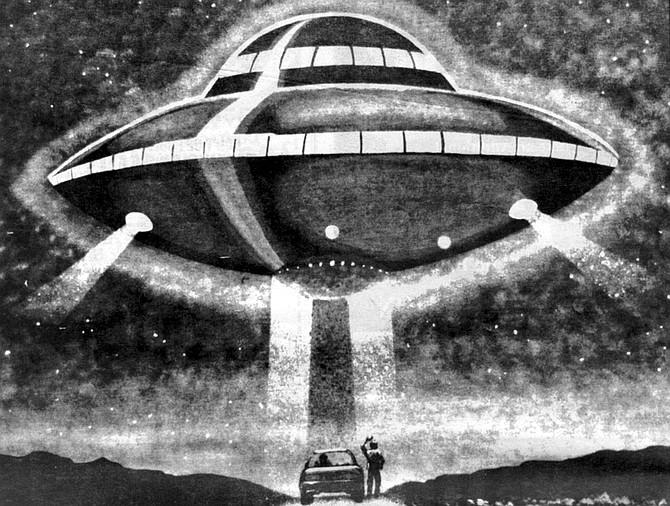 Illustration of UFO sighting