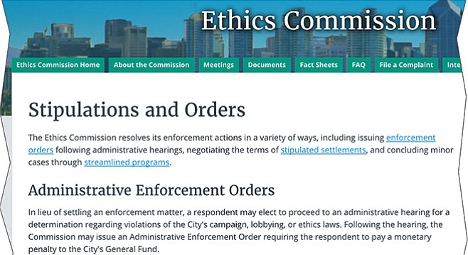 The number of actions taken by San Diego's ethics commission has dropped like a rock under Faulconer's mayoral regime.